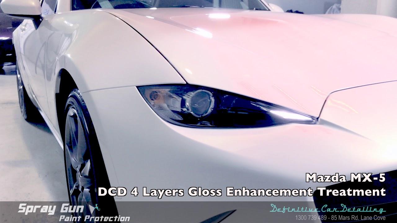 Mazda Mx 5 Crystal White Definitive Sydney Spray Gun 4 Layers Paint Protection Gloss Enhancement Tre