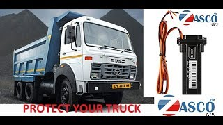 ZASCO GPS ZT-901 / ST-901 TRACKER INSTALLATION IN INDIAN TRUCK TATA HYVA