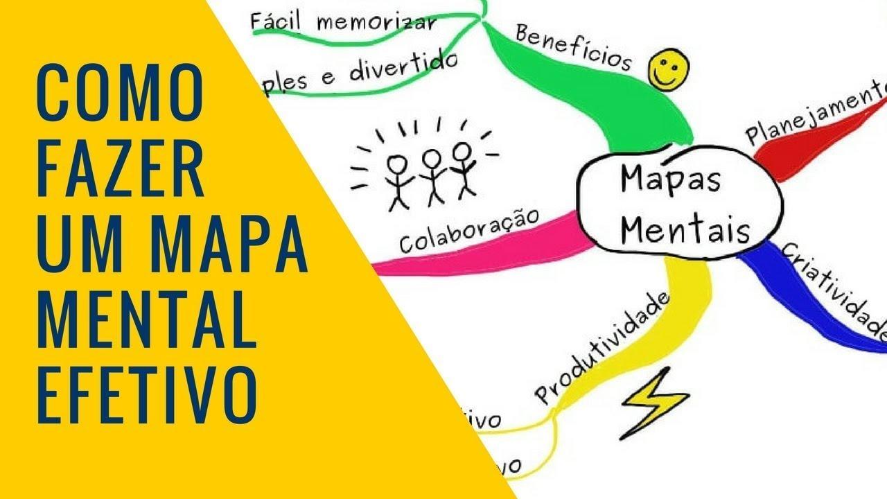 Mapa mental como fazer para estudar?