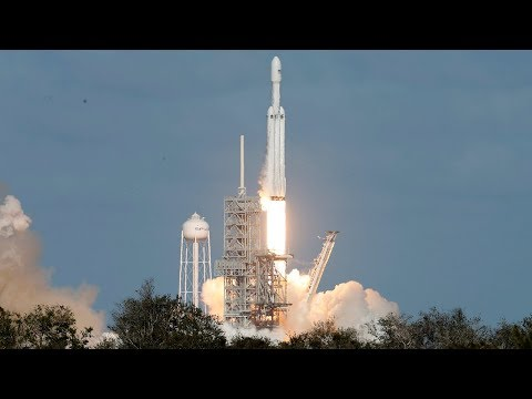 SpaceX Falcon Heavy rocket full launch