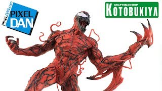 Carnage ArtFX+ Kotobukiya 1/10 Scale Marvel Comics Spider-Man Statue Video Review