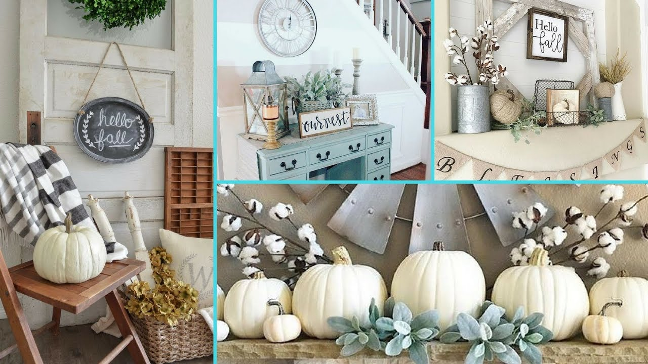 DIY Rustic Shabby Chic Style Fall decor Ideas