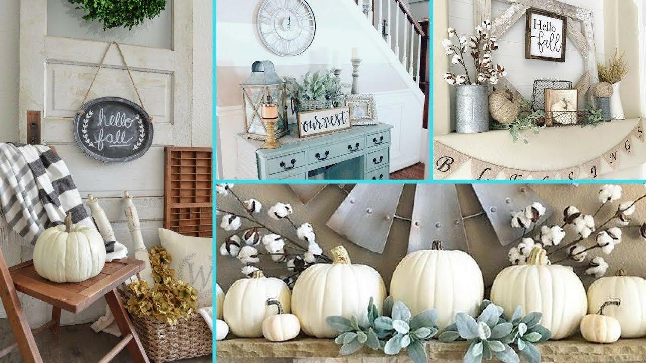 DIY Rustic Shabby Chic Style Fall decor Ideas   Home decor ...