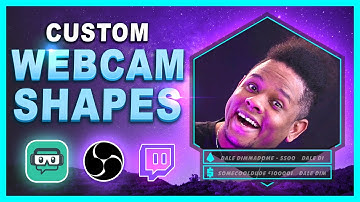Custom Webcam Shapes and Overlays for Live Streaming - Tutorial ( FREE DOWNLOAD )