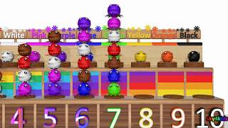 Learn Colors and Counting Numbers 3d animation for children