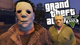 Video MICHAEL MYERS VS JASON VOORHEES MOD (GTA 5 Mods Gameplay) download MP3, 3GP, MP4, WEBM, AVI, FLV November 2018