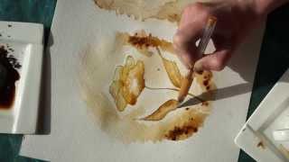 malowanie kawą
