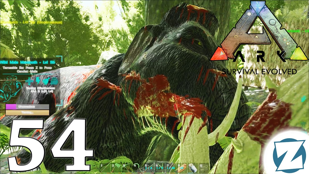 ARK Survival Evolved Gameplay - Ep54 - Mammoth Taming and Stego ...