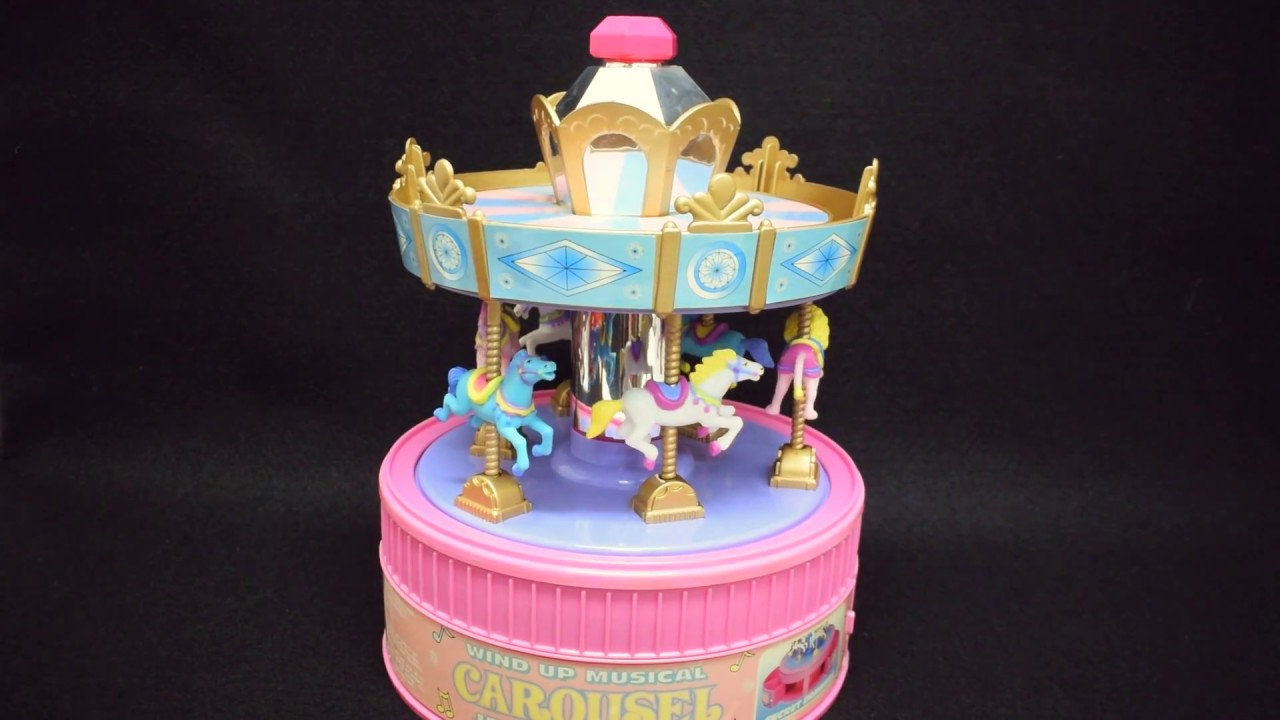 Wind Up Musical Carousel Jewelry Box
