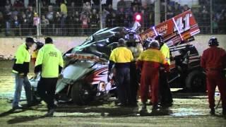 Peter Milnes Sprintcar Crash - Avalon Raceway