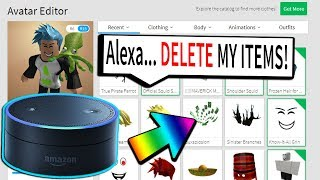 AMAZON ECHO DELETES MY MOST EXPENSIVE ITEMS! (Roblox)
