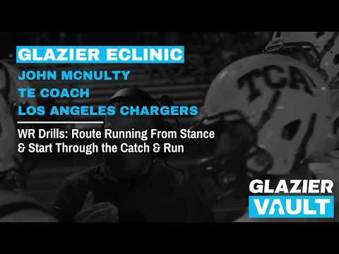 WR Drills: Route Running From Stance & Start - John McNulty