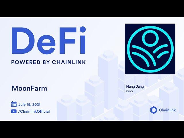 MoonFarm on Chainlink Live   Blockchain Oracles to Secure Algorithmic Yield Farms