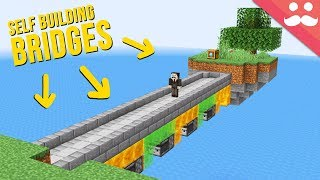 Self Building Bridges with Honey Blocks