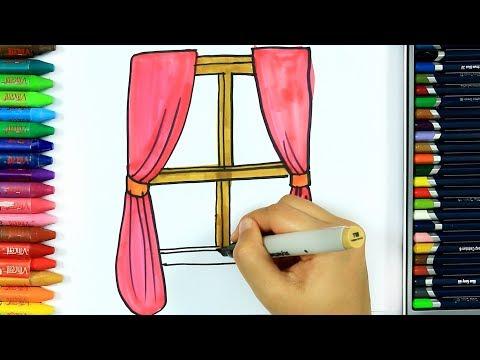 come-disegnare-e-colorare-tenda💕|-colori-|-disegno-|-come-colorare-per-bambini-|-bambini-da-colorare