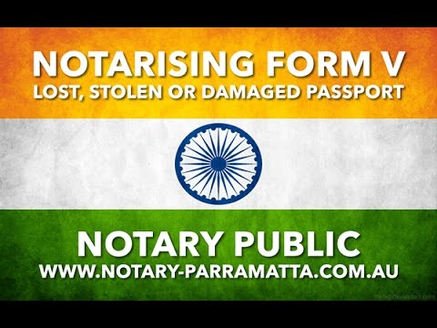 Notary Public Services - Form V - 2017