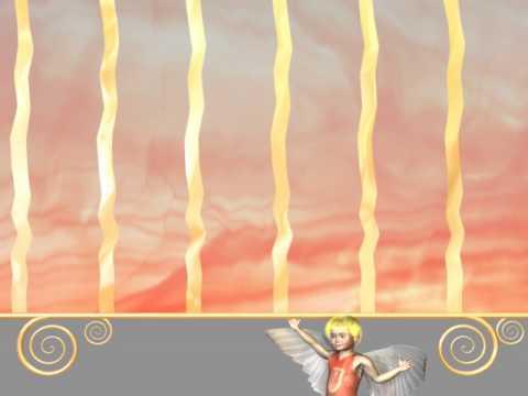 Футаж переход занавес и ангел