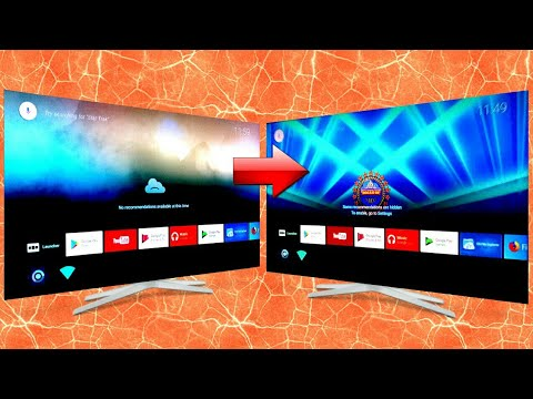 How To Change Background Wallpaper On Android Tv Home Screen Leanback Launcher