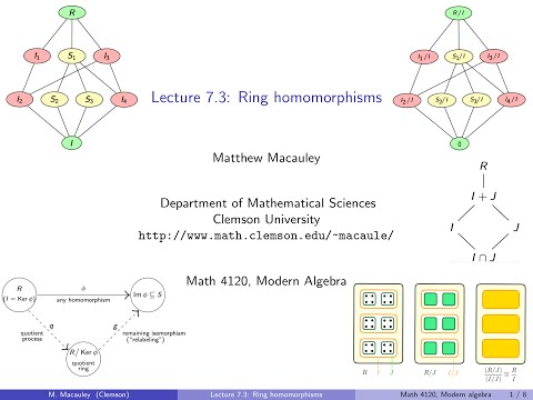 Visual Group Theory, Lecture 7.3: Ring homomorphisms