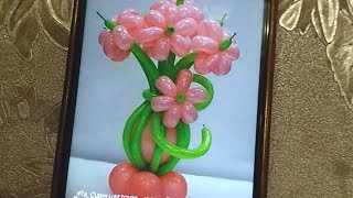 Стрим! Корзина с цветами из шаров! (basket of balloons)