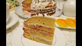 Медовый торт без всяких хлопот вкусный и без раскатывания коржей