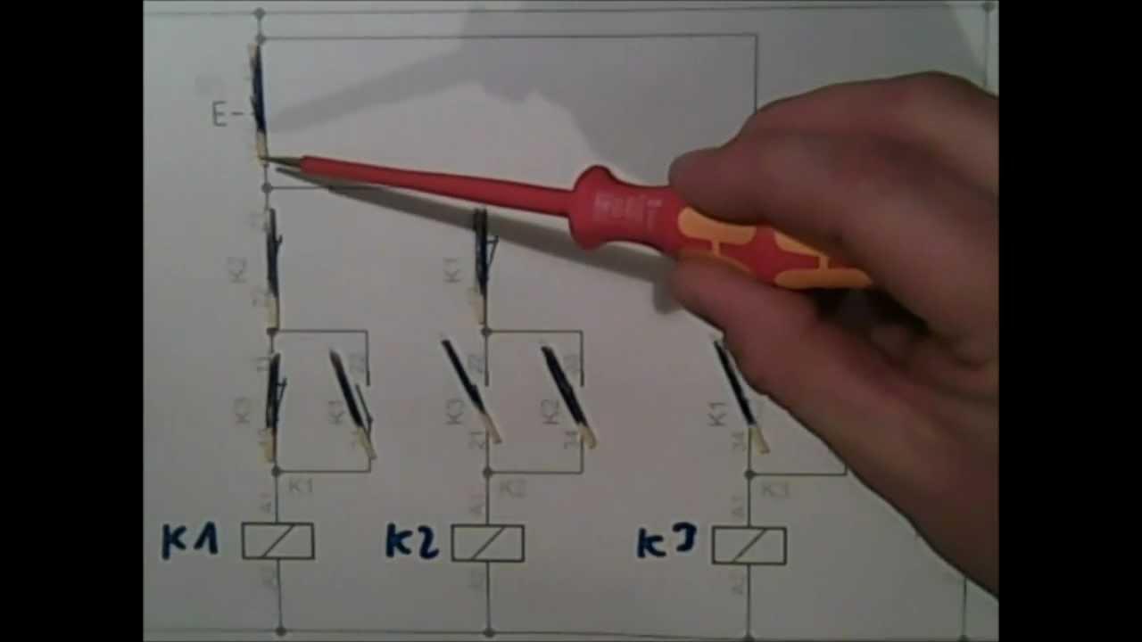 Haltegliedschaltung Stromstoßschaltung mit Erklärung - YouTube