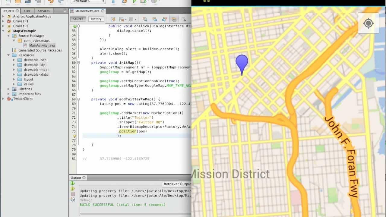 Google Maps API v2 Tutorial // Add a marker