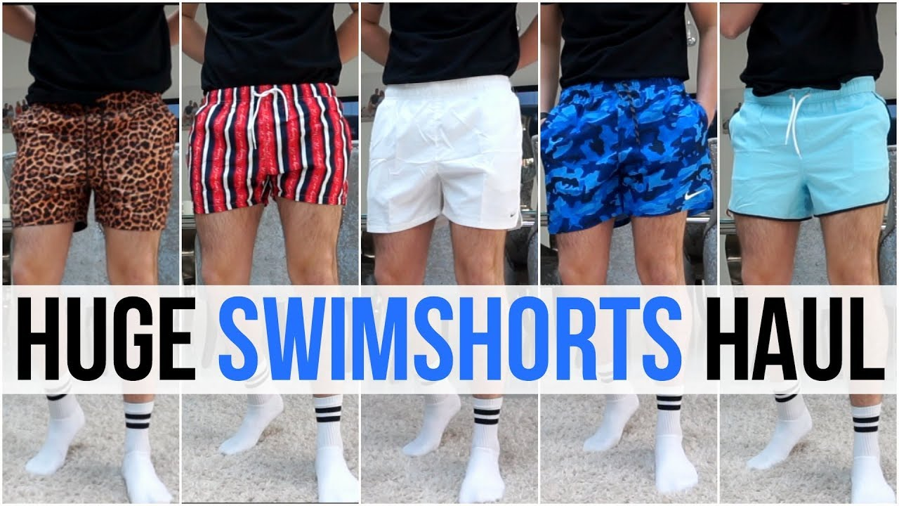 91a78a7454 HUGE Men's Swimshorts Haul & Try On | Summer 2019 (Nike, Adidas, Asos,  Boohooman & More)