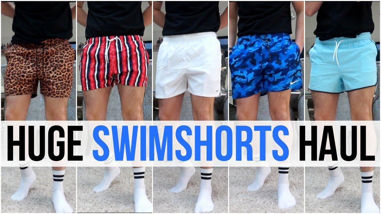 31fb98fc4 HUGE Men's Swimshorts Haul & Try On | Summer 2019 (Nike, Adidas, Asos,  Boohooman & More)