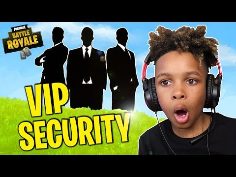 These Guys Will Protect ME!! FORTNITE VIP SECURITY PROTECTION!