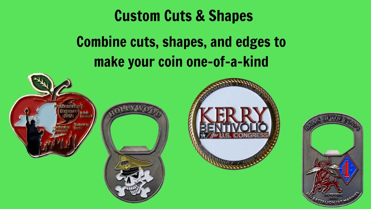 Max Challenge Coins - Custom Cuts & Shapes