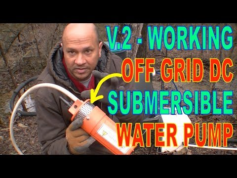 OGH - SUBMERSIBLE SOLAR 12V TO 24V DC WATER PUMP V2 SHOWN WORKING AT TOP OF HILL