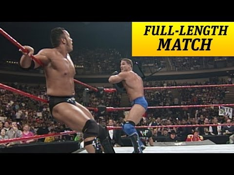 FULLLENGTH MATCH  Raw  Ken Shamrock vs. The Rock  Intercontinental Title Match