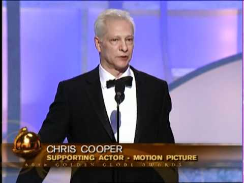 Chris Cooper Wins Best Supporting Actor Motion Picture - Golden Globes 2003