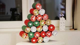 Advent Calendar In Paper Rolls Diy Youtube