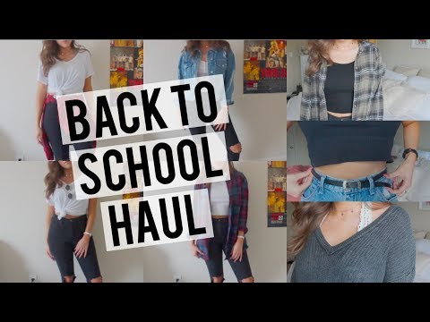 Back To School Clothing Essentials & Go-To Outfits Haul & Try-On | American Eagle & Brandy Melville