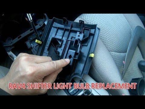 Toyota Rav4 Shifter Light Bulb Replacement Youtube