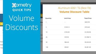 Xometry Quick Tips: Volume Discounts