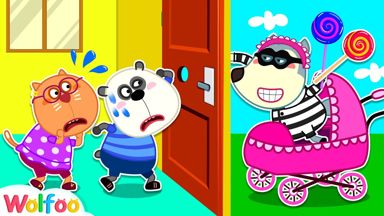 Oh No, Nunca Abra La Puerta a Extraños | Kids Safety Tips | Wolfoo en Español | Videos para niños