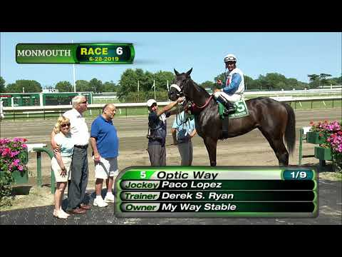 video thumbnail for MONMOUTH PARK 6-28-19 RACE 6