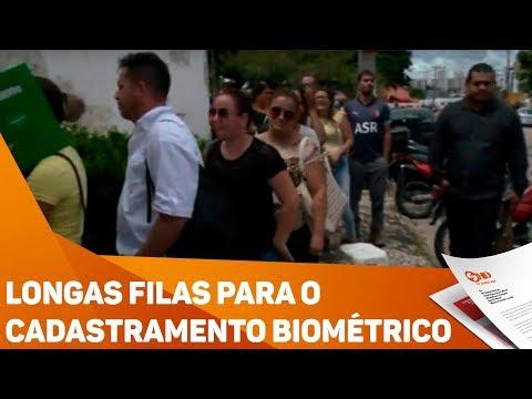 Longas filas para o cadastramento biométrico - TV SOROCABA/SBT