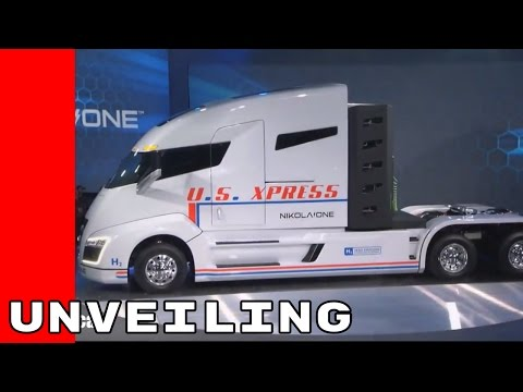 Nikola One Hydrogen Powered Semi Truck Unveiling