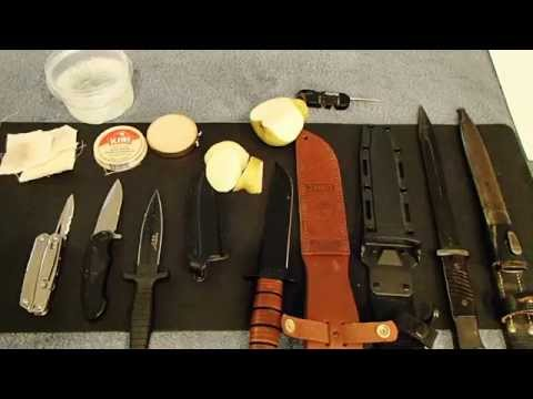 Knife cleaning and care, PART 1