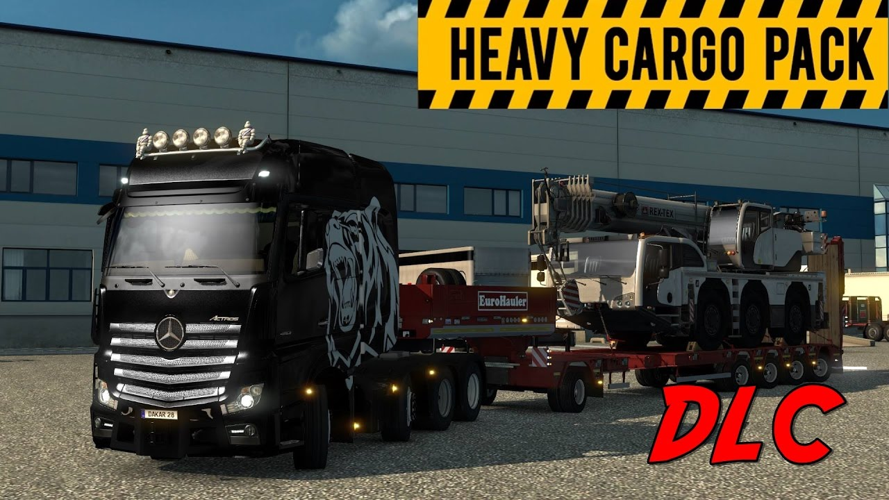 heavy cargo pack dlc euro truck simulator 2 8x4 8 new trailers youtube. Black Bedroom Furniture Sets. Home Design Ideas