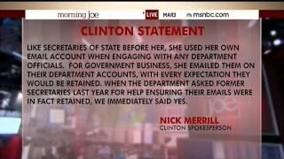 MSNBC: Clinton Spokesman
