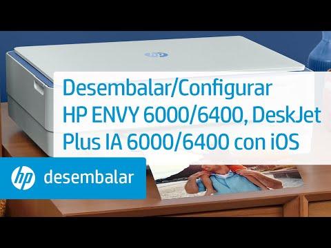 Desembalar/Configurar impresoras HP ENVY 6000/ENVY Pro 6400/DeskJet Plus IA 6000/6400 con iOS | HP