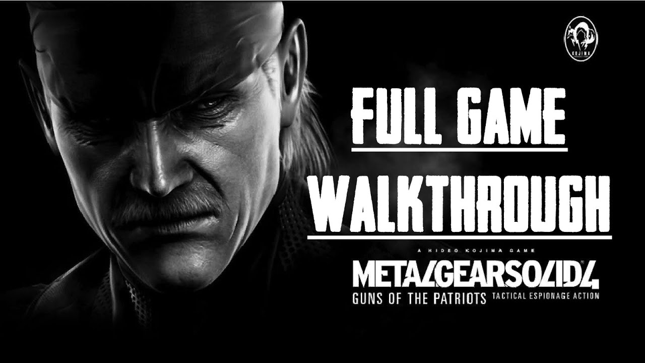 MGS 4 - Full Game Walkthrough