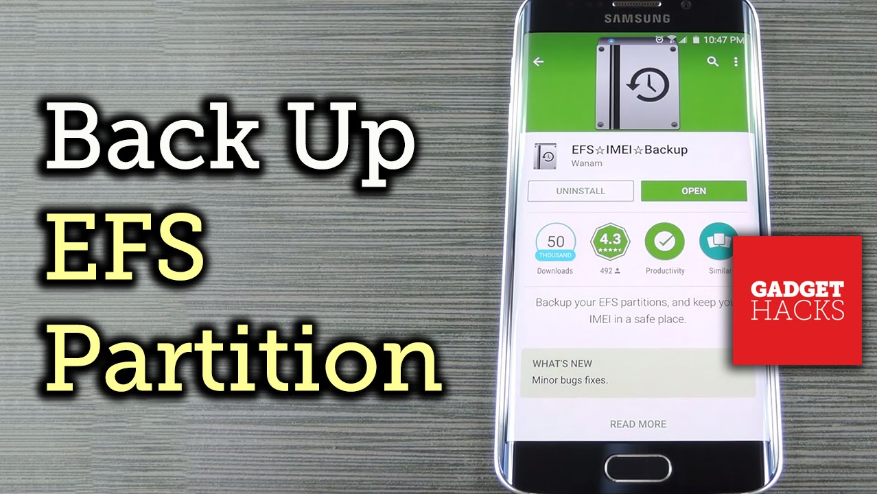 Create A Backup Or Restore The EFS/IMEI Of Samsung's Galaxy S6