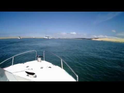 Navigation De La Dune Du Pilat Au Banc Darguin Youtube