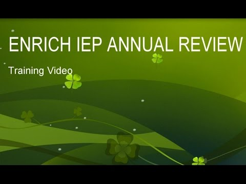 Enrich Annual Review Training Video